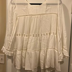 Maeve Cream Blouse with Eyelet Detail